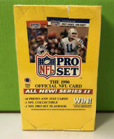 NFL Pro Set 1990 (Series II 2) Sealed Wax Box - 36 Count