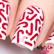 Candy Canes Stencils for Nails, Christmas Nail Stickers, Nail Art, Nail Vinyls