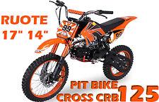 """Pit Bike CRB 125cc 11,5cv + Ruote Grandi 17""""14"""" + Steli Rovesciati ASTA DA 1€"""