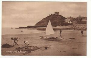 An Early Frith's/Jones & Parry Post Card of Criccieth Sands. Caernarvonshire