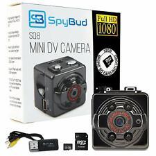 Spy Bud HD Hidden Mini Spy Camera SQ8 - Portable Motion Detection - Night Vision