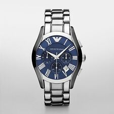Emporio Armani Classic Chronograph Blue Dial Mens Watch AR1635