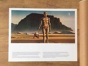 Vintage Star Wars Portfolio Ralph McQuarrie Print Original 1977 Concept Art 3CPO