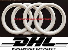 ATLAS Brand 4 New ''17''Car White Wall Portawalls insert Trim set Free Shipping.