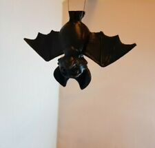 2 X Halloween Hanging bat 10cm Trick Treat Party Decoration in Black