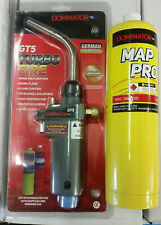 TurboFire Plumbers BlowTorch c/w Mapp Gas for Soldering/Brazing