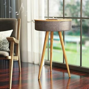 Smart BT Music Table Wireless Nordic Style Wooden 3D Surround AI Control USB
