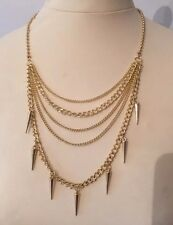 Topshop Gold Chain Necklace Missoma Layered Gypsy JEWELERY Shark Tooth