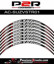 Adesivi cerchi Suzuki Vstrom 650 1000 striscie ruote wheels stickers decals