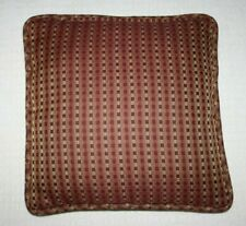 "Viliant Decorative Accent Pillow Sofa Couch Burgundy Checkered 18""x18"" Made USA"