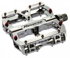 REVERSE Chrome MTB Fahrrad Pedale DH FX FR Flat Pedal Paar Neu