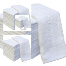 NEW PACK OF 12 WHITE FACE CLOTHS 100% COTTON FLANNELS TOWELS WASH CLOTHS 550 GSM