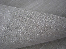 "Wide Linen Fabric Width 87"" Oatmeal 100% Pure Flax Cloth Eco Friendly Light Gray"