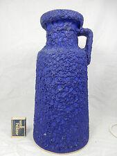 Huge 70´s Design Argento Cardo ceramica pottery Blue Fat Lava Jug VASO 327/30
