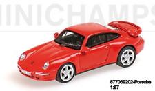 Minichamps 877069202 -porsche 911 (993) – Turbo – 1995 – Red L.E.300 Pièces