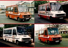 4 Bus Photos ~ Midland Red South - Iveco Minibuses - Coventry & Nuneaton: 1990s
