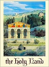 Israel Palestine The Bible Holy Land Vintage Travel Advertisement Art Poster 2