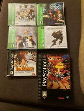 Playstation 1 Game Lot Of 6 Games [ Final Fantasy 8 9 Anthology Chrono.