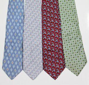 Ermenegildo Zegna Lot of 4 Silk Neckties Ties