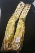 Garland - Curtain Tie Back - Gold White Braided Rope Style With Tassels -   LOT