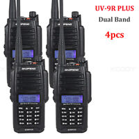 4x Baofeng UV-9R Plus Walkie Talkie IP67 Waterproof 12W VHF/UHF CTCSS DCS 128CH