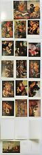 FLEMISH PAINTINGS in HERMITAGE complete postcard set, 16 cards Russia 1978