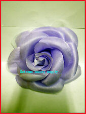 pink white flower broche hair bridal pin clip pony tail holder tie scrunchie