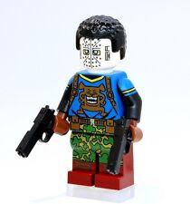 A1330 Lego CUSTOM PRINTED INSPIRED WILD DOG MINIFIG Green Arrow Red Black Canary