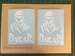 2 x Paris Dakar Vinyl Decal Stickers for 4×4 Off Road Jeep, any colour.