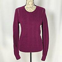 Banana Republic Sweater NWOT Women's Purple Merino Wool Alpaca Blend Size Small