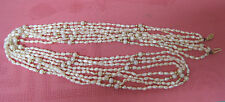 """35"""" long 14k gold clasp genuine freshwater & cultured pearl 4-strand necklace"""