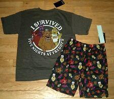 Five Nights At Freddys T- Shirt And Lounge Pajamas Shorts Size 10/12 Nwt $36 Rv