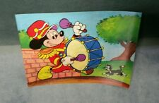 Vintage Disney Mickey Mouse Lenticular Post Card Toppan Pluto Unused