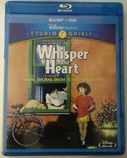 Whisper Of The Heart (Blu-ray/DVD, 2012, 2-Disc Set) Disney Studio Ghilibi