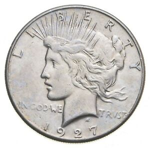 Better - 1927-S - Peace Silver Dollar - 90% US Coin *653