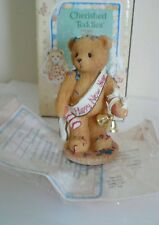 "Cherished Teddies ~Newton ~ ""Ringing In The New Year. ~1997~ Retired ~ Enesco"