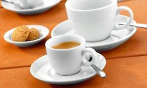 6 x Espressotasse inkl. Untertasse weiß Seltmann Weiden VIP. Moccatasse Gastro