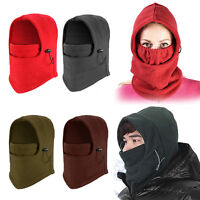 Unisex Neck Tube Winter Thermal Fleece Anti-Wind Mens Motorbike Cycling Scarf UK