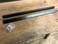 Satin Black Steel FRONT door carpet retainer trims Land Rover Defender 90 Sills