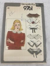 Vintage - Simplicity Sewing Pattern - Women Set Of Collars - 9761