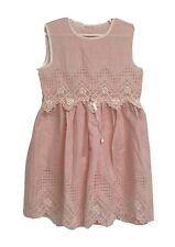 Vintage youth girls dress pink sleeveless size 4-5T