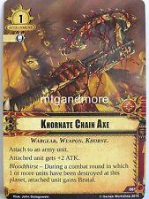 Warhammer 40000 Conquest LCG-khornate Chain Axe #061 - Dames Salvage