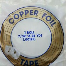 """Stained glass art Edco, Copperfoil 7/32"""" COPPER BACKED, quality copper foil tape"""