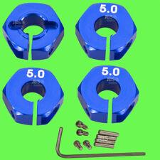 1/10 ALUMINIUM 5mm BLEU Moyeu de Roue Roue Adaptateur 12mm Hex Hexagonal Reifen