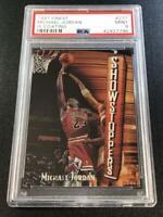 MICHAEL JORDAN 1997 TOPPS FINEST #271 SHOWSTOPPERS CARD W/ COATING PSA 9 BULLS