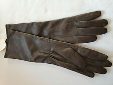 OASIS LONG Brown 100% Leather Gloves - MEDIUM New with Tags - Brown