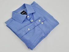 "STRELLSON Formal Blue Slim Fit Men's Shirt 15 3/4"" Size 40 Casual Single Cuffs"