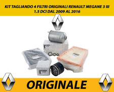 KIT TAGLIANDO 4 FILTRI ORIGINALI RENAULT MEGANE 3 III 1.5 DCI DAL 2009 AL 2016