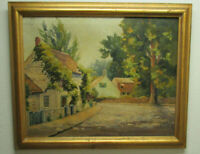 GORDON BENJAMIN MESS 1937 VINTAGE OIL PAINTING ON CANVAS SIGNED LISTED ARTIST