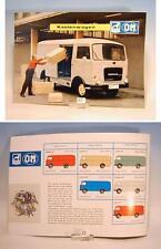 Büssing OM Kastenwagen Prospekt 4 seitig aus den 60er Jahren